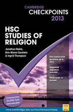 Cambridge Checkpoints 2013 HSC Studies of Religion : Cambridge Checkpoints - Jonathan Noble