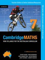 Cambridge Mathematics NSW Syllabus for the Australian Curriculum Year 7 Teacher Edition - Jenny Goodman