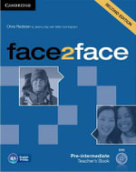 Face2face Pre-intermediate Teacher's Book with DVD - Chris Redston