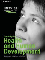 Cambridge VCE Health and Human Development Units 1 and 2 : Print and Digital Bundle - Sonia Goodacre