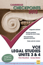 Cambridge Checkpoints 2013 VCE Legal Studies Units 3 & 4  - Peter Mountford