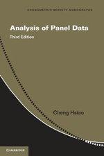 Analysis of Panel Data : Econometric Society Monographs - Cheng Hsiao