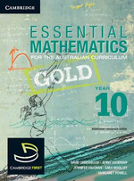 Essential Mathematics Gold for the Australian Curriculum Year 10 and Cambridge Hotmaths - David Greenwood