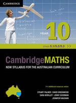 Cambridge Mathematics NSW Year 10 : Syllabus for the Australian Curriculum - 5.1, 5.2 and 5.3 and Hotmaths Bundle - Stuart Palmer