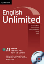 English Unlimited Starter A and B Teacher's Pack - Adrian Doff