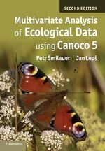 Multivariate Analysis of Ecological Data Using CANOCO 5 - Petr Smilauer