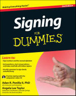 Signing For Dummies : with Video CD - Adan R. Penilla