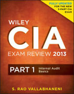 Wiley CIA Exam Review : Internal Audit Basics Pt. 1 - Rao Vallabhaneni