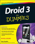 Droid 3 For Dummies : For Dummies (Lifestyles Paperback) - Dan Gookin