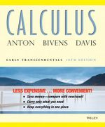 Calculus Early Transcendentals 10E Binder Ready Version + WileyPlus Standalone Registration Card - Anton