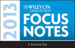 Wiley CPA Examination Review 2013 Focus Notes - Wiley