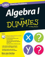 1001 Algebra I Practice Problems For Dummies : For Dummies (Lifestyles Paperback) - Mary Jane Sterling