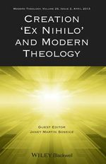 Creation 'Ex Nihilo' and Modern Theology : Genetic Engineering and Christian Ethics