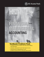 Textbook Problem Pack to Accompany Weygandt Financial & Managerial Accounting - Weygandt