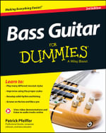 Bass Guitar For Dummies : For Dummies - Patrick Pfeiffer