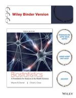 Biostatistics : A Foundation for Analysis in the Health Sciences, Tenth Edition Binder Ready Version - Daniel