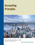 Accounting Principles 11E for Bronx Community College - Jerry J. Weygandt