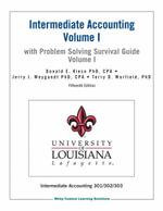 Intermediate Accounting 15E Vol 1 W/Pssgv1 for Univ of Louisiana Laf - Donald E. Kieso
