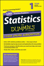 1,001 Statistics Practice Problems for Dummies Access Code Card (1-Year Subscription) - Consumer Dummies
