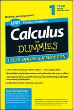 1,001 Calculus Practice Problems for Dummies Access Code Card (1-Year Subscription) - Consumer Dummies