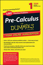1,001 Pre-Calculus Practice Problems for Dummies Access Code Card (1-Year Subscription) - Consumer Dummies