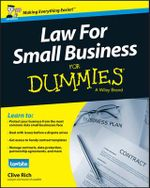 Law for Small Business For Dummies - Claudia Gerrard