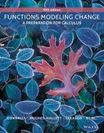 Functions Modeling Change : A Preparation for Calculus - Eric Connally