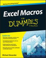 Excel Macros For Dummies - Michael Alexander