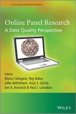 Online Panel Research : A Data Quality Perspective