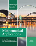Mathematical Applications for the Management, Life, and Social Sciences : For the Management, Life, and Social Sciences, 8th - Ronald J Harshbarger