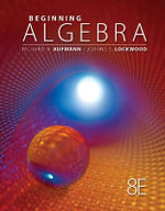 Student Solutions Manual for Aufmann/Lockwood's Beginning Algebra with Applications, 8th - Rhoda Oden