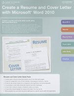 Create a Resume and Cover Letter with Microsoft Word 2010 Coursenotes : Course Notes Quick Reference Guides - Course Technology