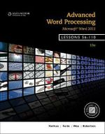 Advanced Word Processing, Lessons 56-110 : Microsoft Word - Donna Woo
