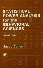 Statistical Power Analysis for the Behavioral Sciences : A Sourcebook - Jacob Cohen