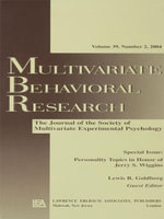 Personality Topics in Honor of Jerry S. Wiggins : A Special Issue of Multivariate Behavioral Research