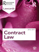 Contract Lawcards 2012-2013 - Routledge