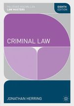 Criminal Law - Jonathan Herring