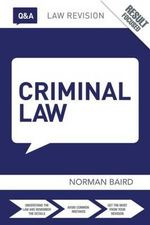 Q&A Criminal Law - Norman Baird