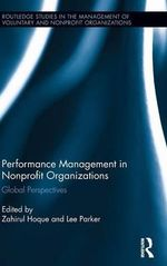 Performance Management in Nonprofit Organizations : Global Perspectives