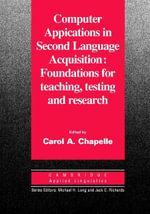 Computer Applications in Second Language Acquisition - Carol A. Chapelle