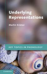 Underlying Representations - Martin Kr‰mer