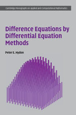 Difference Equations by Differential Equation Methods - Peter E. Hydon