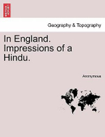 In England. Impressions of a Hindu. - Anonymous