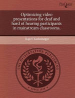 Optimizing Video Presentations for Deaf and Hard of Hearing Participants in Mainstream Classrooms. : Restaurant and Cafe Culture in the Art of Manet and Degas. - Kristin Amber Zachrel