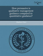 How Persuasive Is Qualitative Management Guidance Compared to Quantitative Guidance? - Matthew Hart