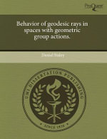 Behavior of Geodesic Rays in Spaces with Geometric Group Actions. - Daniel Staley