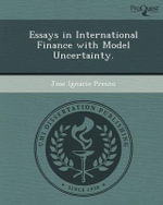 Essays in International Finance with Model Uncertainty. - Jose Ignacio Presno