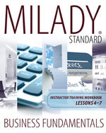 Milady Standard Business Fundamentals Training : The Business of Success  Lessons 3 - 6 - Milady