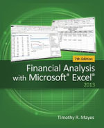 Financial Analysis with Microsoft Excel - Timothy R. Mayes