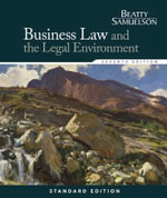 Business Law and the Legal Environment : Standard - Jeffrey Beatty